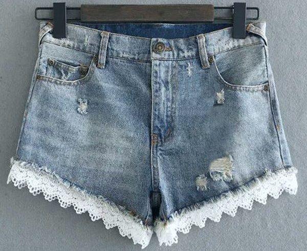 Пришиваем кружево на джинсы