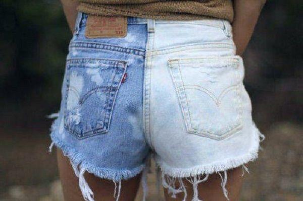 Градиент на обрезанных джинсах