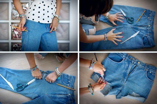Три способа обрезать джинсы
