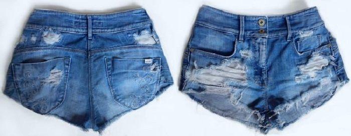 Как обрезать старые джинсы