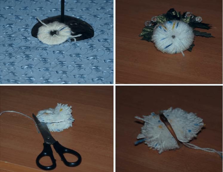Изготавливаем животных из помпонов