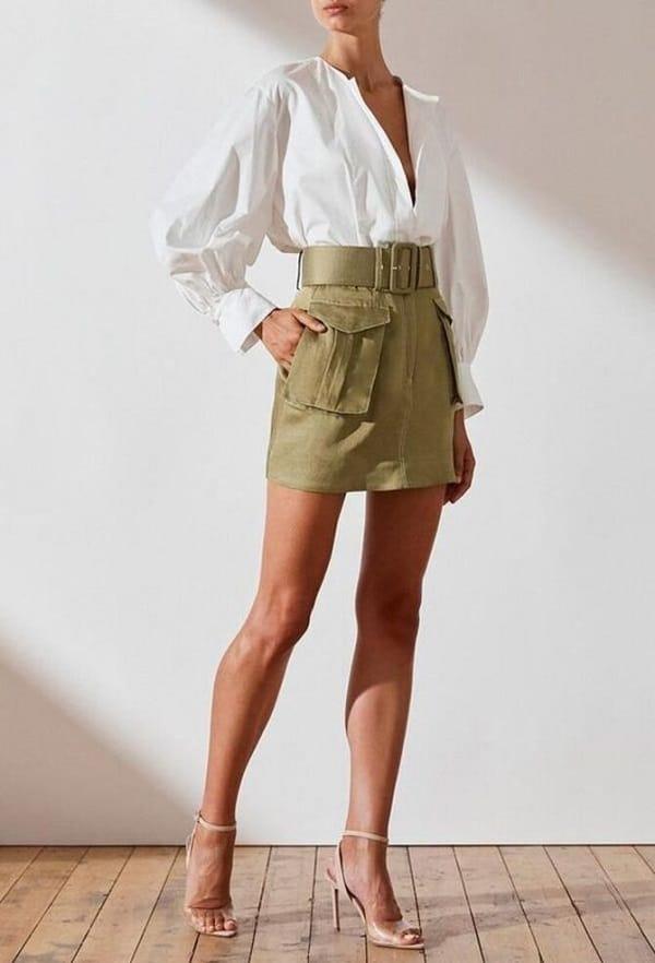 мини-юбка с накладными карманами вторая