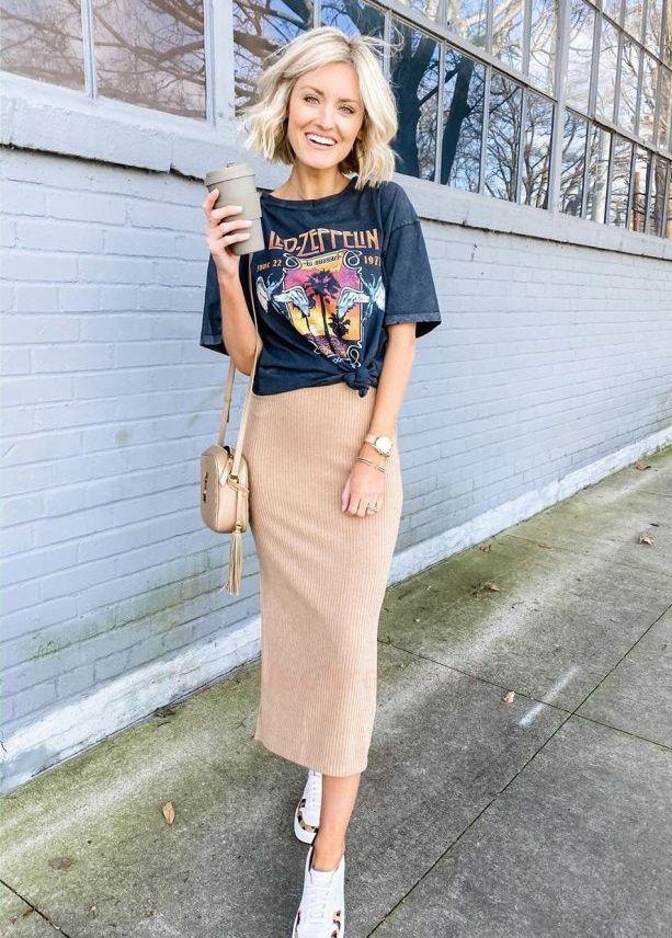 персиковая юбка-каран