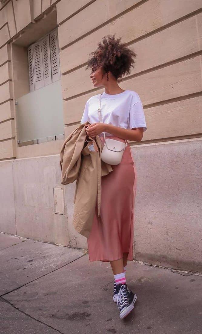 шелк юбка с носками