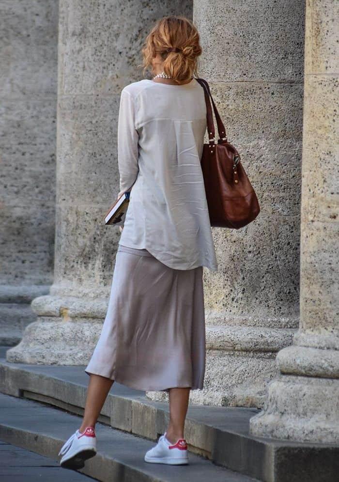 шелк юбка с рубашкой