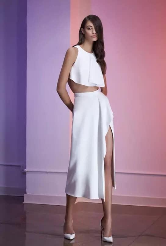 юбка на запах в белом