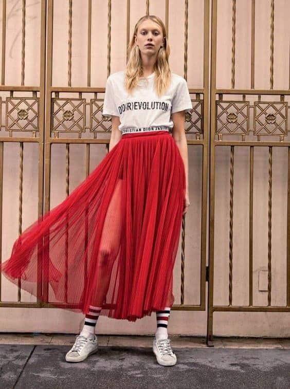 юбка плиссе с шортами