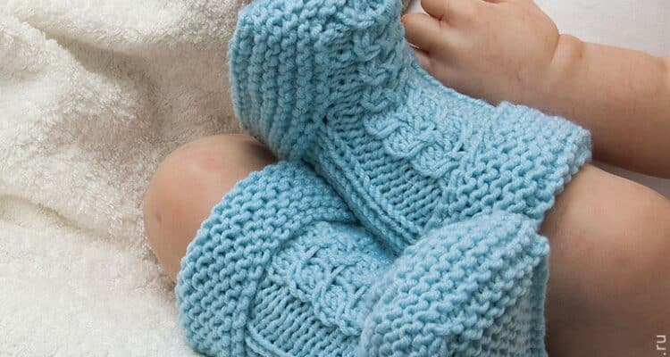 носочки для новорожденных спицами своими руками